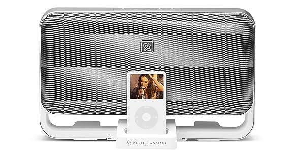 amazon com altec lansing m602 speaker system for ipod white home rh amazon com