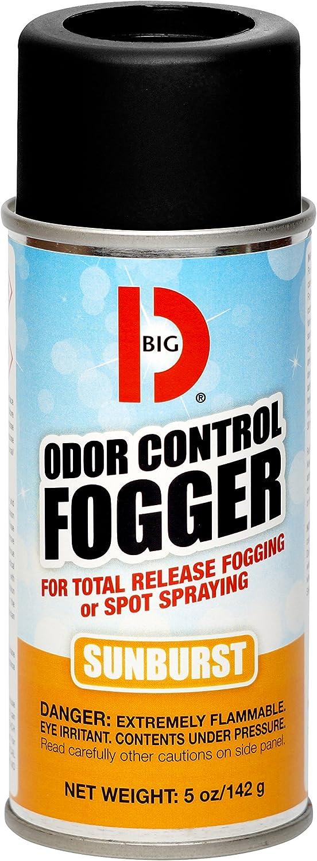 Big D 345 Odor Control Fogger, Sunburst Fragrance, 5 oz (Pack of 12) - Kills odors from fire, flood, decomposition, skunk, cigarettes, musty smells - Ideal for use in cars, property management, hotels