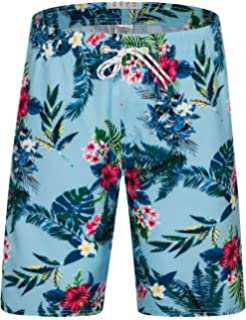 Off to See The World Happy Camper Mens Swim Trunks Board Beachwear Casual Beach Shorts for Men with Mesh Lining