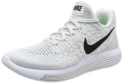 NIKE Women's Lunarepic Low Flyknit 2 Running Shoe White/Black-Pure Platinum  5.5 B