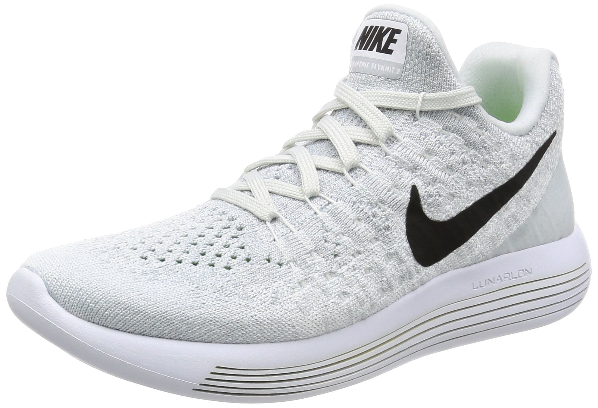 93e1b4c8a7c64 Galleon - Nike Women s Lunarepic Low Flyknit 2 White Black Pure Platinum  Running Shoe 8 Women US