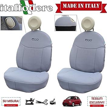 COPRISEDILI 500 Fiat COPPIA Foderine ANTERIORI Grigio 308 FODERE 500 SU MISURA