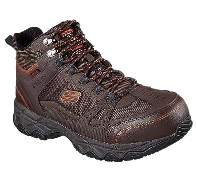 5f28ee4591ed9 Skechers Work Men s Ledom Steel Toe WP Brown 7 ...