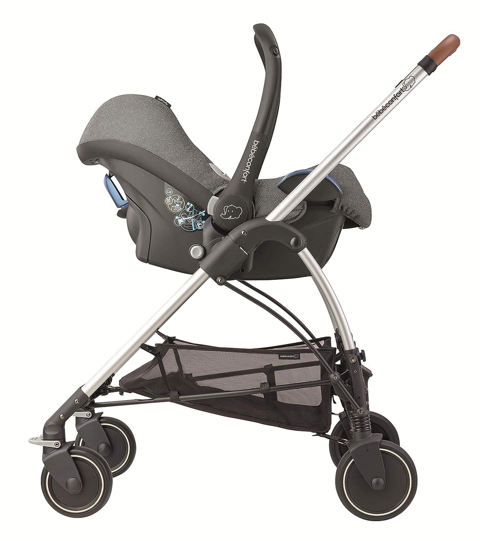 Cochecito urbano 3 en 1 sistema plegable dise/ño compacto para bebes de 0 meses hasta 3,5 a/ños B/éb/é Confort MYA Sparkling Grey color gris oscuro