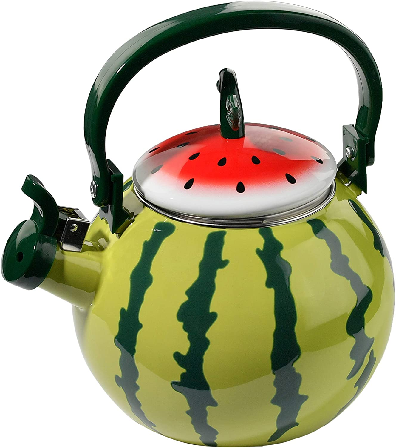 HOME-X Watermelon Whistling Tea Kettle, Cute Fruit Teapot, Kitchen Accessories/Decor