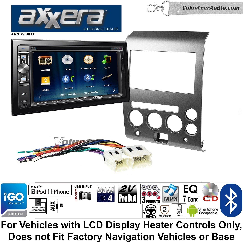 ボランティアオーディオaxxera avn6558btダブルDINラジオキットをインストールナビゲーションBluetooth CD/DVDプレーヤーFits 2006 – 2007 Nissan Armada、タイタン B07CJYDLN9