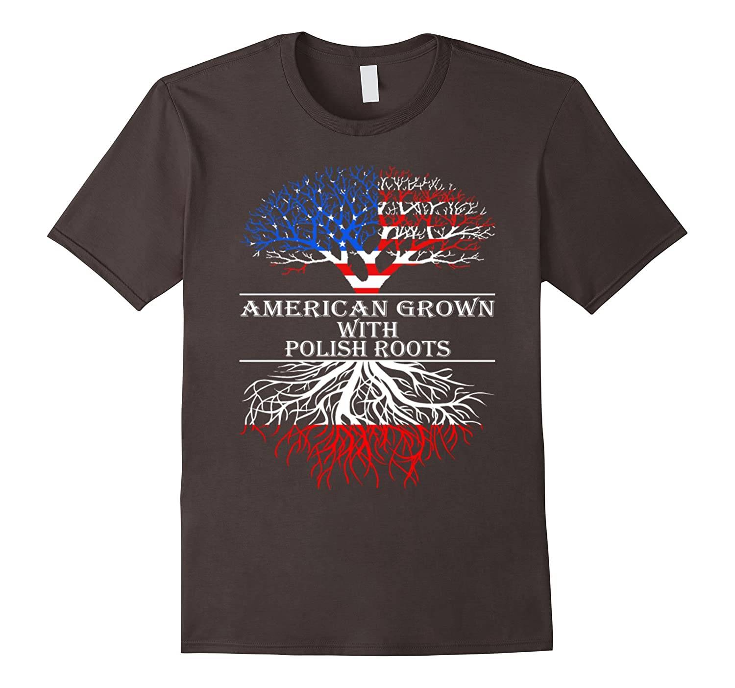 American Grown With Polish Roots T-Shirt-CL