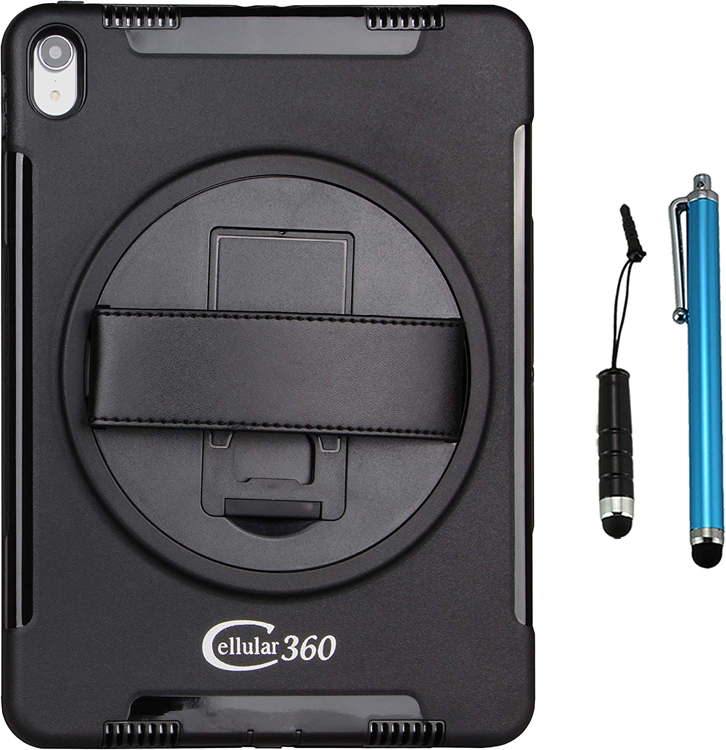 Cellular360 Shockproof Case for iPad Pro 12.9 (2017 2nd Gen and 2015 1st Gen),Handy Case with a 360 Degree Rotatable Kickstand and Handle (Black)