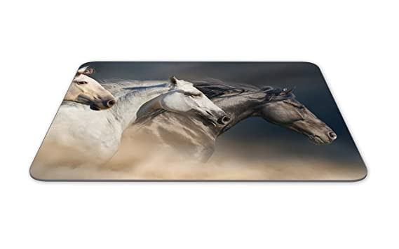 Cavalli al galoppo Tappetino mouse Pad Cavallo Pony Animal regalo dei capretti PC Computer # 8536