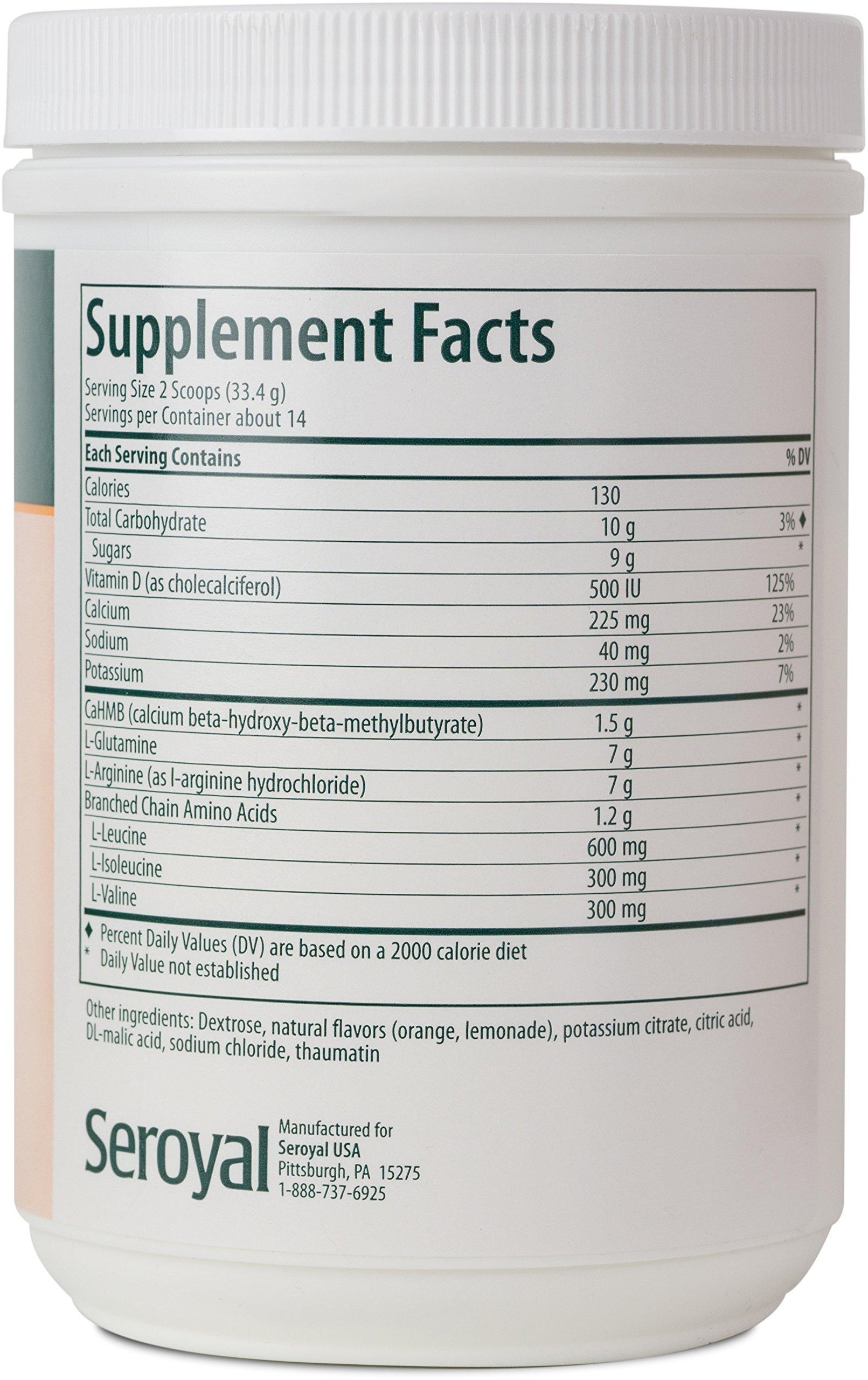 Genestra Brands - HMB Complex - Vegetarian Amino Acid Powder Supplement - Natural Orange Flavor - 16.6 oz (470 g) by Genestra Brands (Image #2)