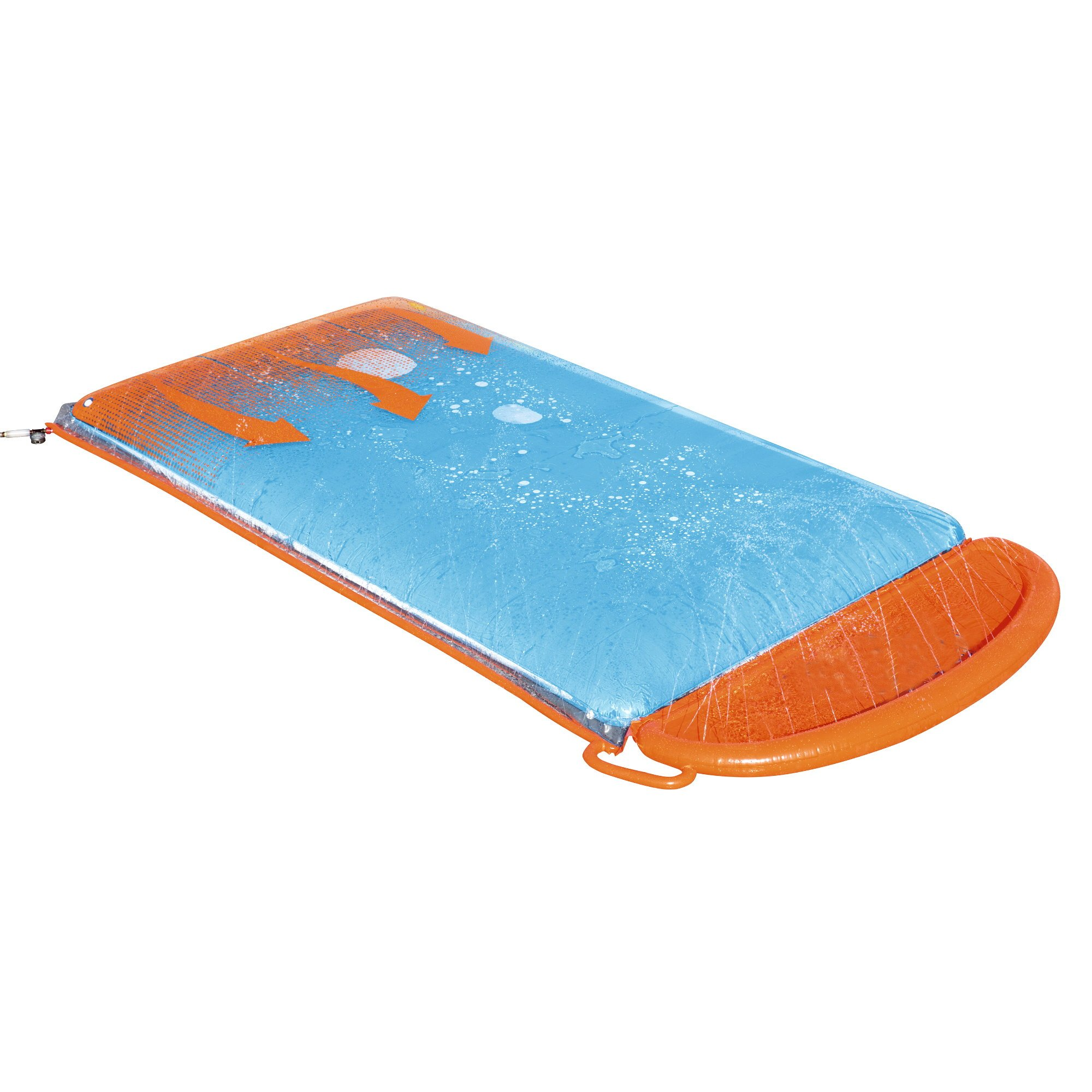 Inflatable Slip N Slide. This Big Sprinkler Race Kiddie Blow Up Above Ground Long Waterslide is Great for Kids & Children, Aqua Splash to Have Outdoor Water Fun with All Family. (Triple Blobzter) by Kids-Inflatable-Pool
