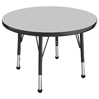 Grey//Navy Standard Legs w// Ball Glides ECR4Kids Mesa T-Mold 24 x 48 Trapezoid School Activity Table Adjustable Height 19-30 inch