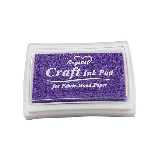 12 opinioni per Purple porpora Tampone di inchiostro Craft per il tessuto legno carta 15 colori