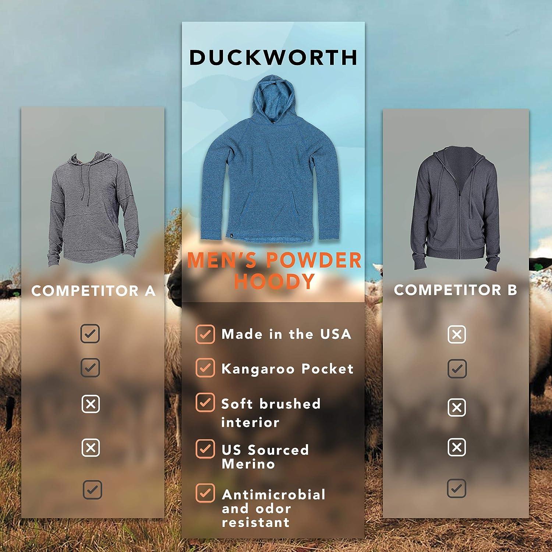 Duckworth Mens Powder Merino Wool Hoody