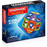 Magmagic Building Block Magnetic Toys, 30 Piece Starter Inspire Kit, Preschool Skills Educational Game Construction Stacking Sets