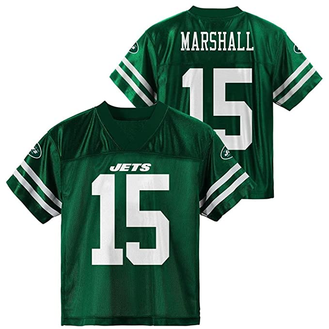 52cb7a2799f Outerstuff Brandon Marshall New York Jets Green Youth Player Home Jersey  (XXL 18)