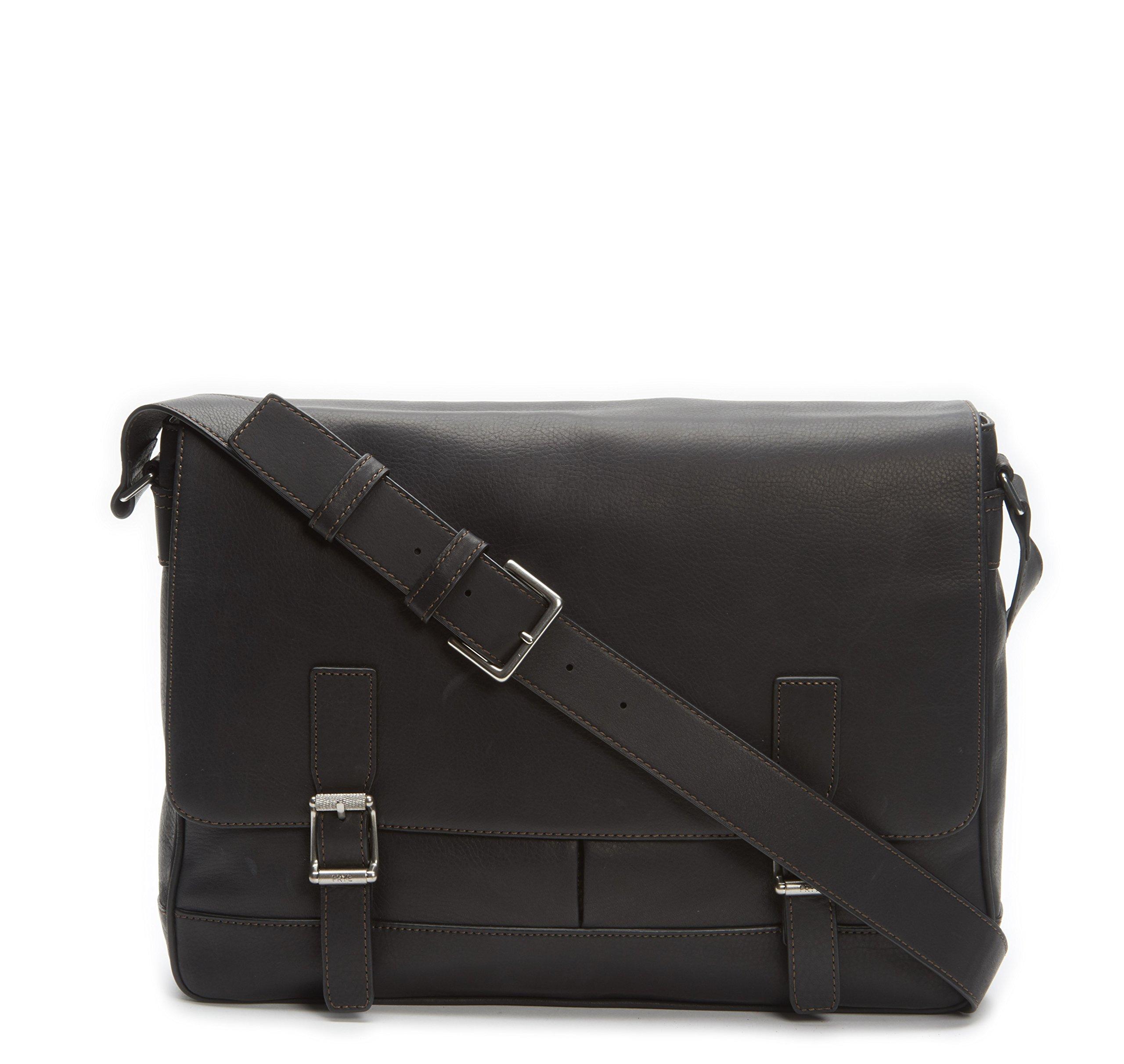 FRYE Men's Oliver Messenger Bag, Black, One Size