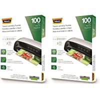 Fellowes Thermal Laminating Pouches, Letter Size Sheets, 5mil, 100pk 2 Pack