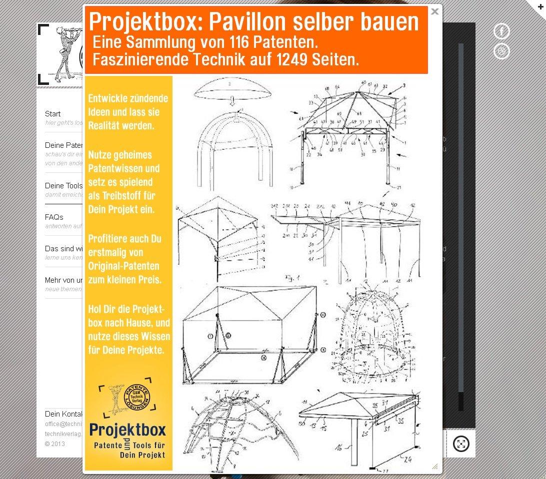Pavillon selber bauen: Deine Projektbox inkl. 116 Original-Patenten ...