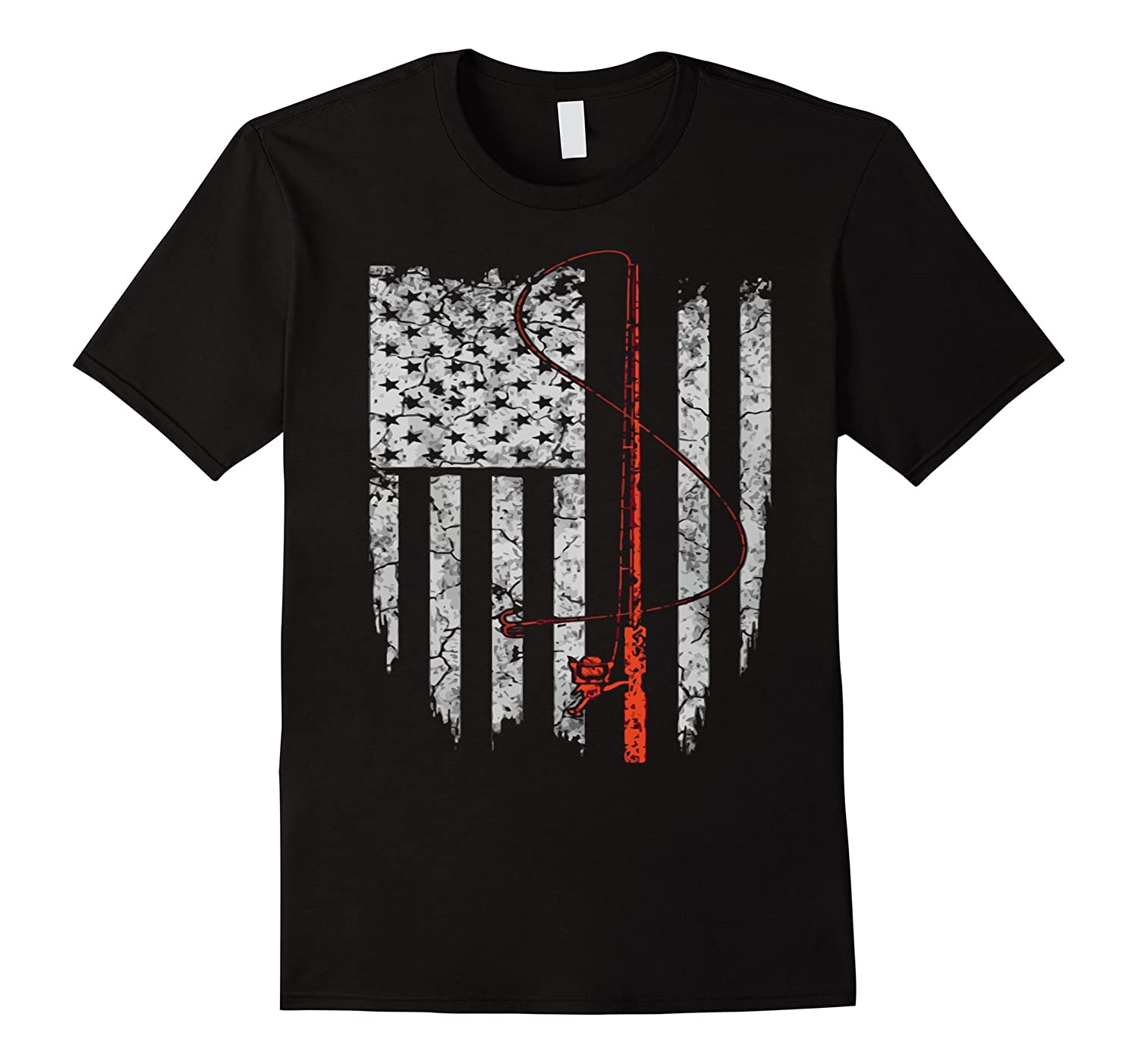 fishing t shirt american flag fishing rod shirt goatstee