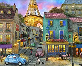 product image for Springbok Puzzles - Eiffel Magic - 1000 Piece Jigsaw Puzzle - Large 30 Inches by 24 Inches Puzzle - Made in USA - Unique Cut Interlocking Pieces