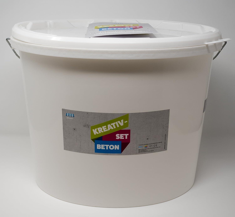 Elibrero Kreativ-Set Beton 3 kg | Feinbeton zum Gießen und Basteln | Feine Körnung (