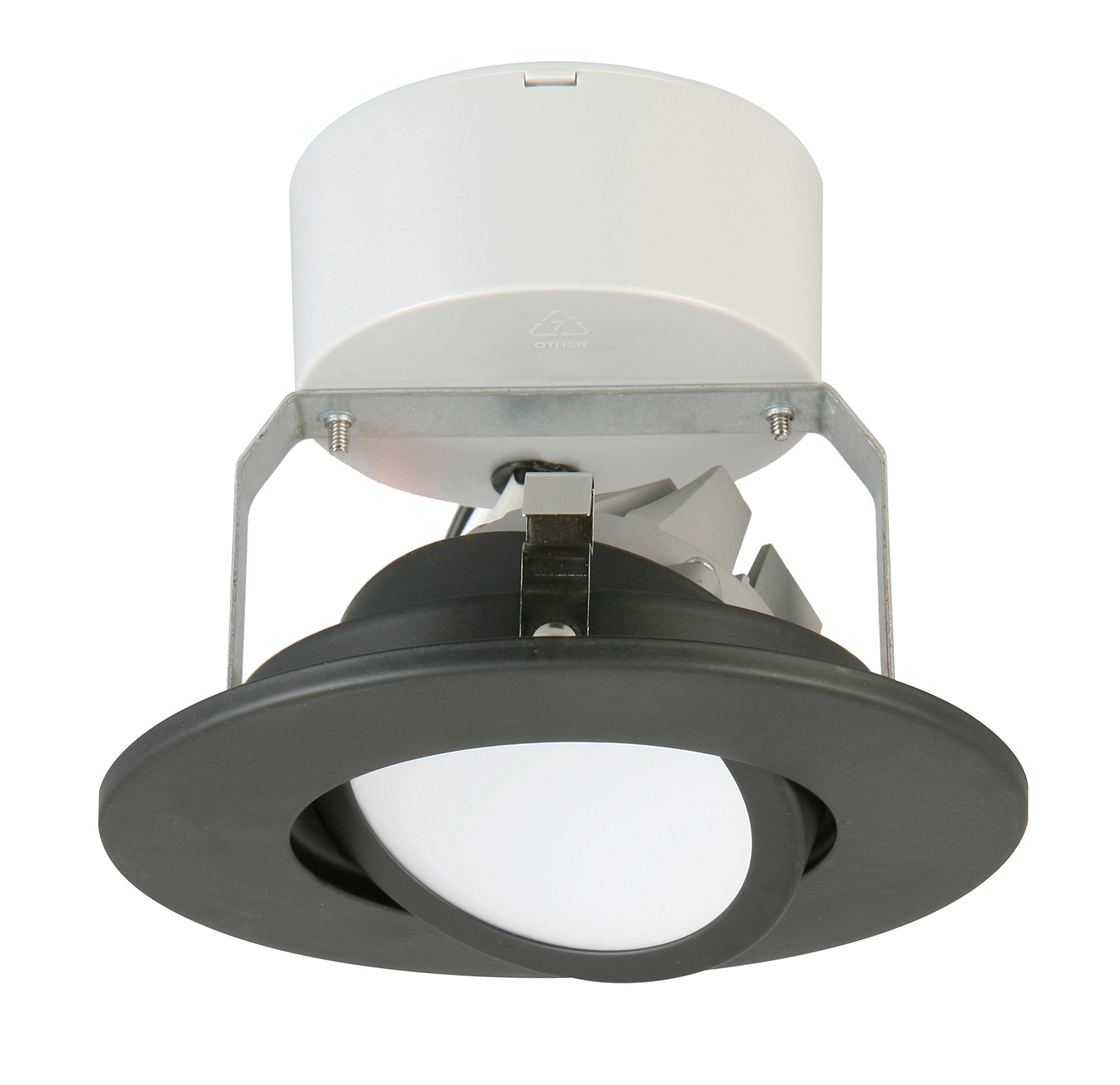 Lithonia Lighting 4 Inch LED Gimbal, Matte Black, Higher Lumen Version