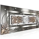 !!! SENSATIONSPREIS !!! - Bilder Abstrakt Silber Grau- Bild Vlies Leinwand - Kunstdrucke Wandbild - XXL Format deko - mehrere Farben und Größen im Shop - Fertig zum Aufhängen - 100x40 cm !!! 100% MADE IN GERMANY !!! 108012a