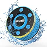 Donerton Bluetooth Shower Speaker, IP7 Waterproof Wireless Speakers with HD Sound Stereo, Portable Speaker, LED Light Mini Sp