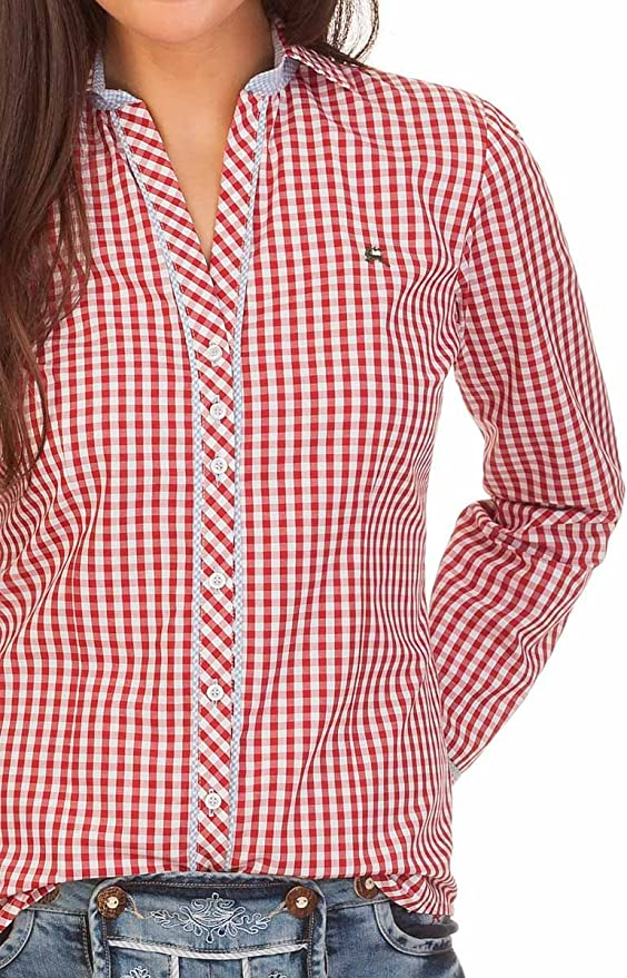 T/ürkis Fanny Langer Arm Pink orbis Textil Trachten Bluse