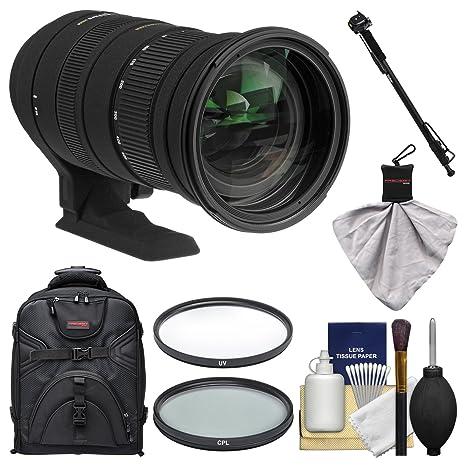 Sigma 50 - 500 mm f/4,5 - 6,3 DG OS HSM APO Lente de Zoom con ...