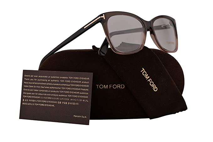 28ce86af5f5c9 Amazon.com  Tom Ford FT5514 Eyeglasses 54-15-140 Dark Brown w Demo Clear  Lens 050 TF5514 TF 5514 FT 5514  Clothing