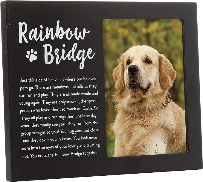 Rainbow Bridge Poem Personalized Pet Memorial Frame