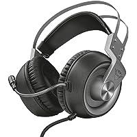 Trust GXT 4374 - Ruptor Auriculares Gaming con Unidades acústicas de 50 mm para PC y PS4, Gris