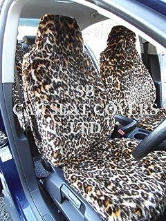 CREAM//BLACK CAR SEAT COVERS i YS01 RECARO SEMI FIT A FORD KA