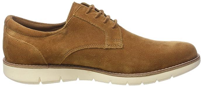 Echo Suede, Zapatos de Cordones Derby para Hombre, Marrón (Camel CA), 43 EU Schmoove