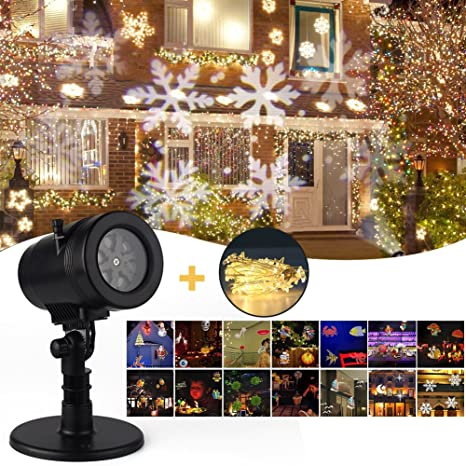 christmas projector lightsyegu projection led 14 switchable pattern lens indoor outdoor waterproof rotating landscape - Amazon Christmas Decorations Indoor