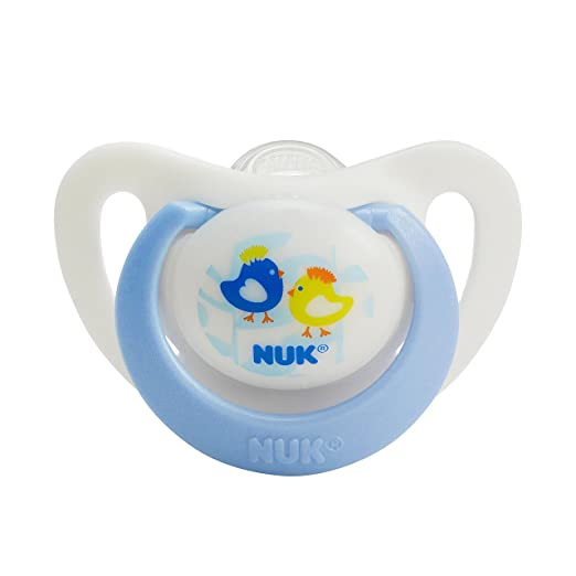 NUK Advanced Orthodontic Silicone Pacifiers Specially Designed for Newborns 0-2 Months 2pk