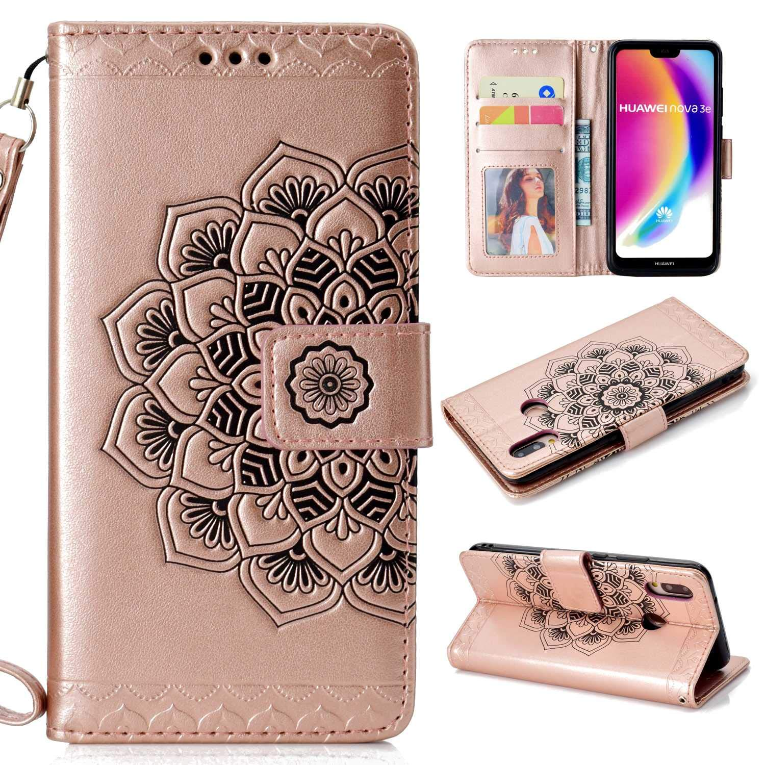 PU Anti-dust Wallet Case for Huawei P20 Lite Huawei P20 Lite Case Blue The Grafu/® Flip Leather Cover with KickStand and Magnetic Closure Card Slot