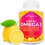 Omega 3 Fish Oil - Dietary Supplement - Pure Sea-Harvested Natural Source of EPA & DHA Acids - 60 Softgels - for both Men and Women*