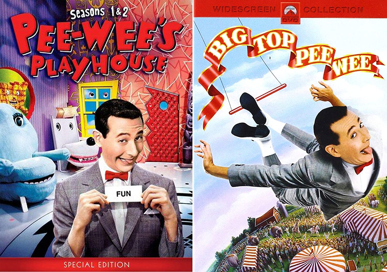 A Big Scream Pack Wacky Playhouse Episodes Season 1 & 2 + Big Top PeeWee Adventure Pee-Wee Herman - Zany Adventures DVD Bundle Tim Burton Movie & TV Series: Amazon.es: Cine y