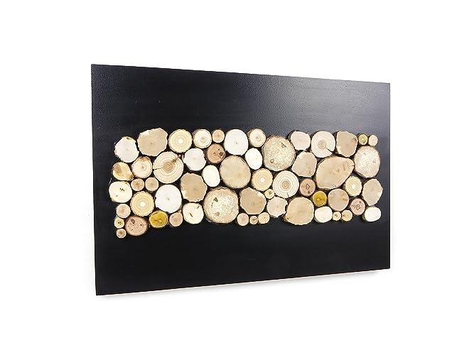 d coration murale rondin de bois. Black Bedroom Furniture Sets. Home Design Ideas