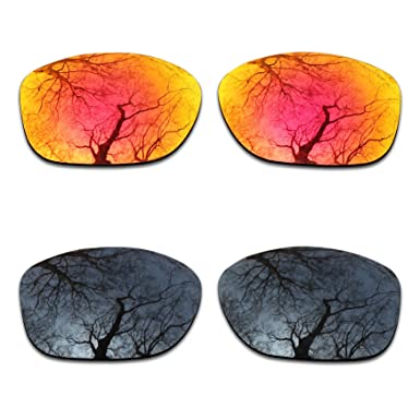 f5281e0aa0 Image Unavailable. Image not available for. Color  2 Pair Polarized Lens  Replacement for Oakley Pit Bull Black Fire Orange