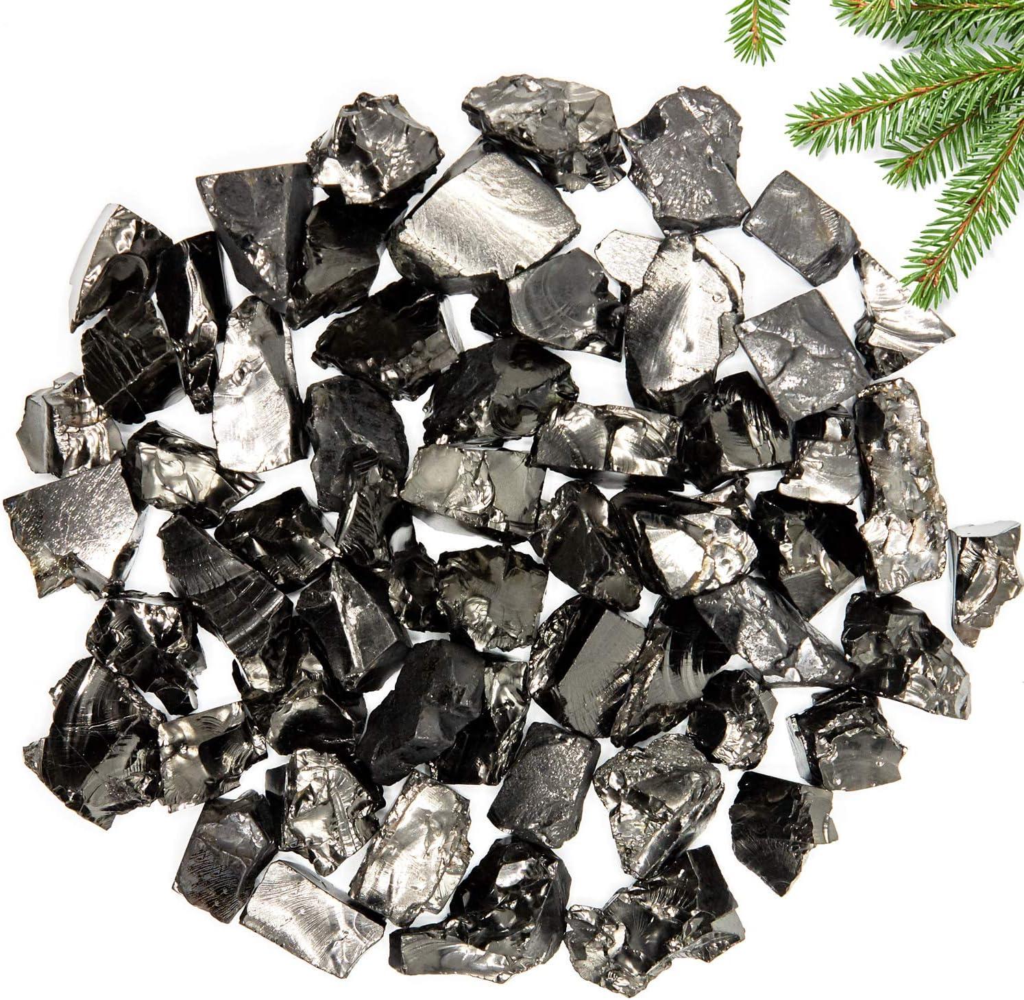 Elite Shungite Detoxification Stone 0,22 Lb/100 gr for Water & Jewelry Making - #A 0,03-0,1 Oz Per One Shungite Stone