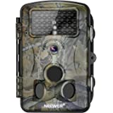 Neewer Hunting Trail Camera Infrared Night Vision, 1080P 12MP HD Infrared 2.4 inches LCD Screen, 120 Degree Wide Angle, Waterproof Dustproof for Wildlife Scouting Surveillance