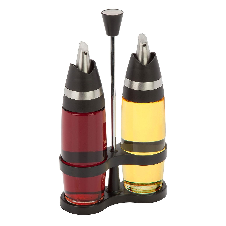 Honey-Can-Do KCH-06404 Oil and Vinegar Set, Black HoneyCanDo