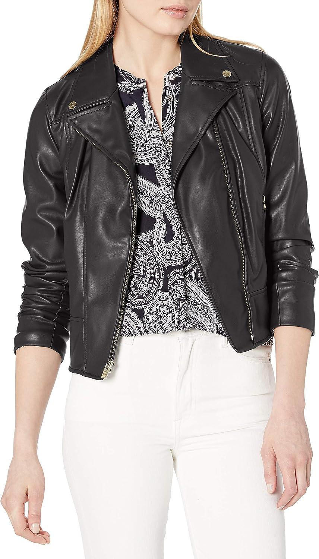Tommy Hilfiger Womens Moto Jacket