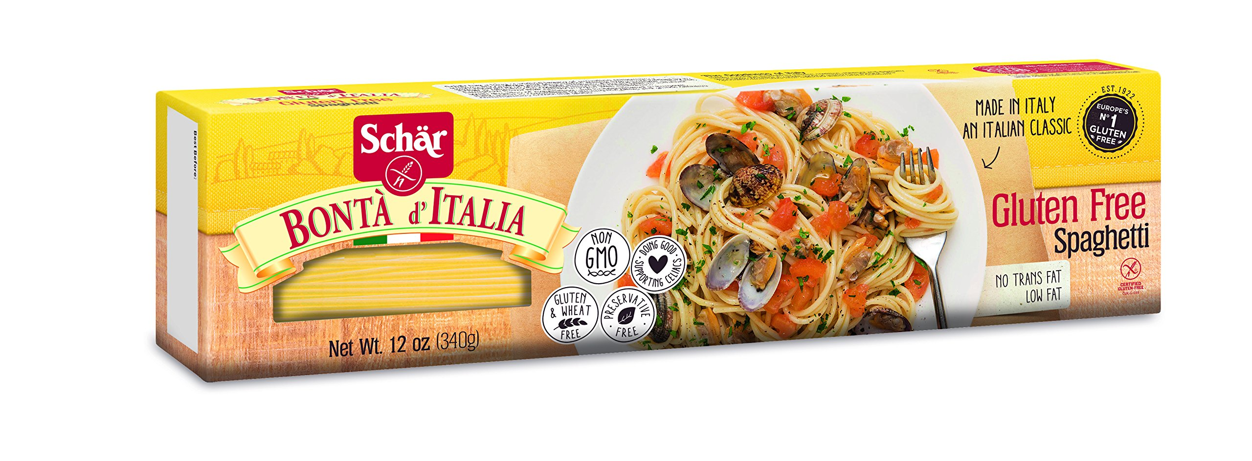 Schar Naturally Gluten-Free Spaghetti, 12-Ounce Packages (Pack of 5) by Schar