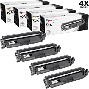 LD Compatible Toner Cartridge Replacement for HP 30A CF230A (Black, 4-Pack)