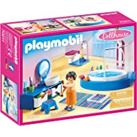 PLAYMOBIL 70211 Bathroom with Tub Playset (51 Piece),One Size,Colourful